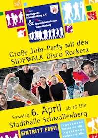 Jubi-Party mit den SIDEWALK Disco Rockerz